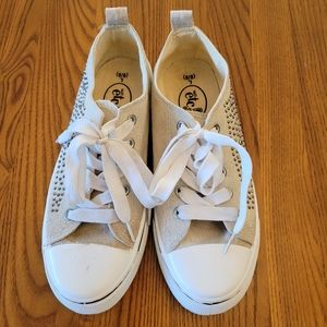 Rue 21 tan sneakers with studs, size 8.5
